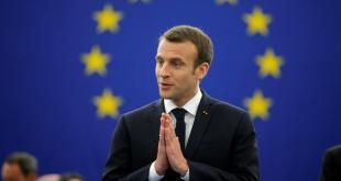 Emmanuel Macron flytur ræðu á ESB-þinginu.