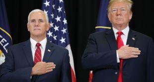 Mike Pence varaforseti og Donald Trump forseti Bandaríkjanna.
