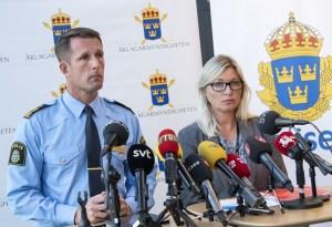 Mattias Sigfridsson, starfandi lögreglustjóri í Malmö, og Anna Palmqvist vara-saksóknari.
