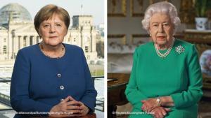 Angela Merkel og Elísabet II.