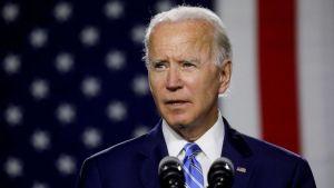 Joe Biden flytur flokksþingsræðuna 20. ágúst 2020.