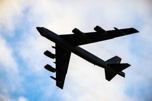 Átta hreyfla B-52-sprengjuþota.