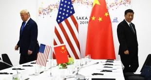 Donald Trump og Xi Jinping.