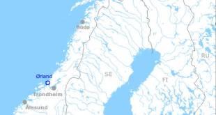 Bandarísku sprengjuvélarnar verða á  Örland-flugvelli.