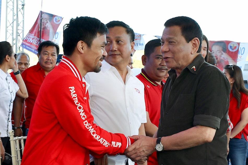 Manny Pacquiao y Rodrigo Duterte
