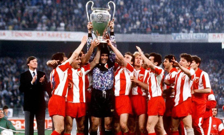 Estrella Roja de Belgrado, equipo comunista, campeón de la Champions League