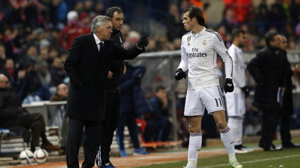 Carlo Ancelotti y Gareth Bale Real Madrid