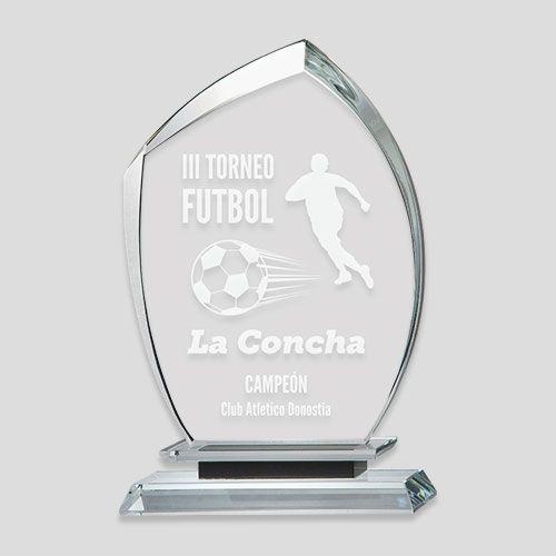 trofeo cristal futbol