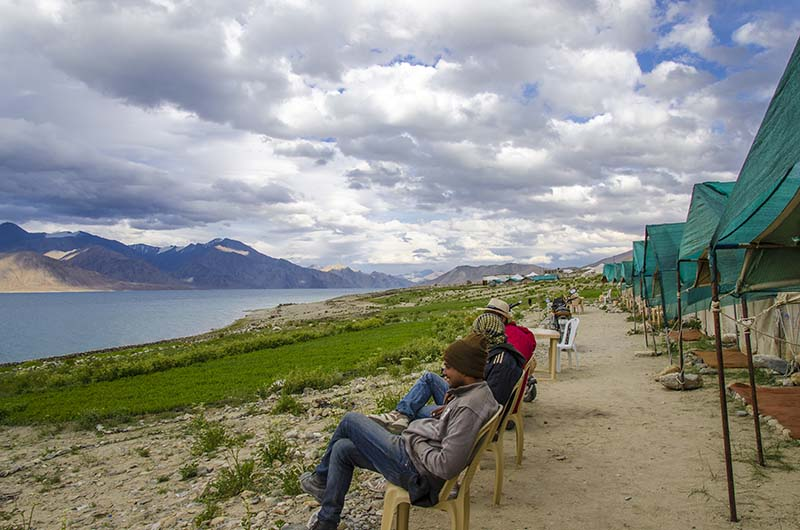 accommodation at pangong tso