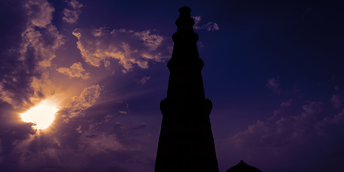 Sunrise at Qutub Minar