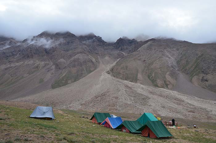 Camp Site At Chandra Taal