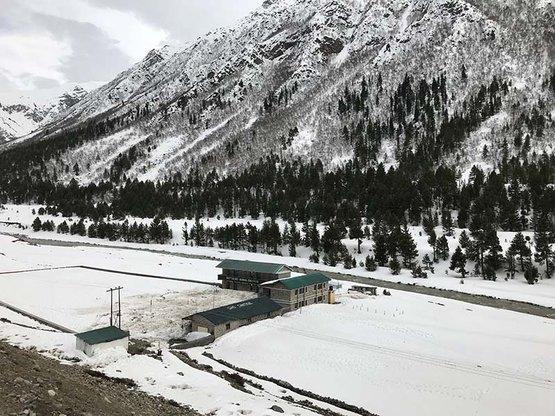 snowfall in chitkul