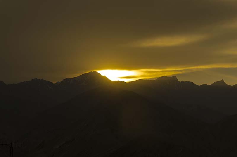 sunset in nako
