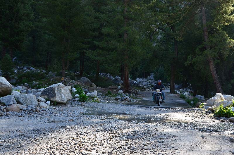 bike ride in sangla valley