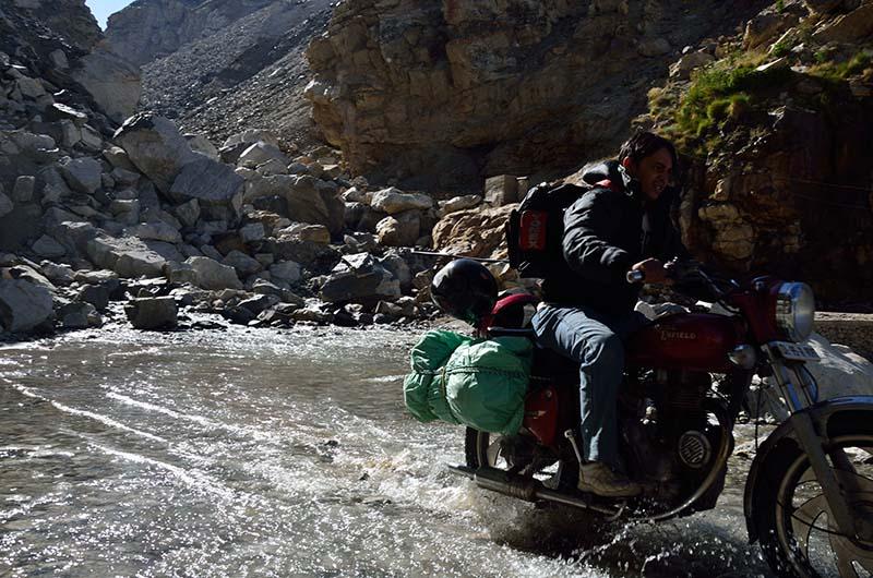 Motorcycle Water Crossing