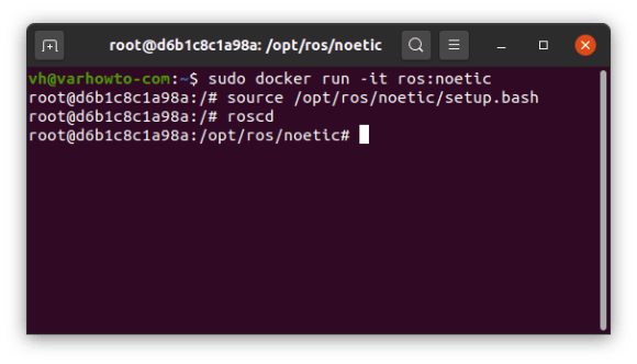 Running the ROS Noetic container