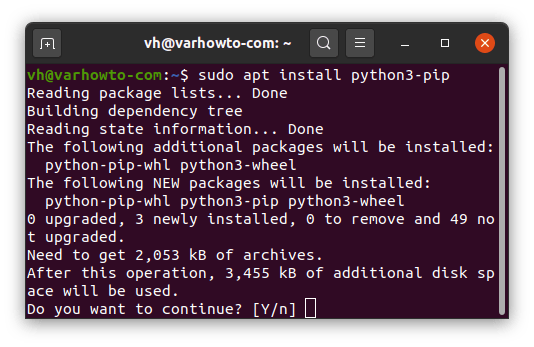 Install pip 3 for PyTorch