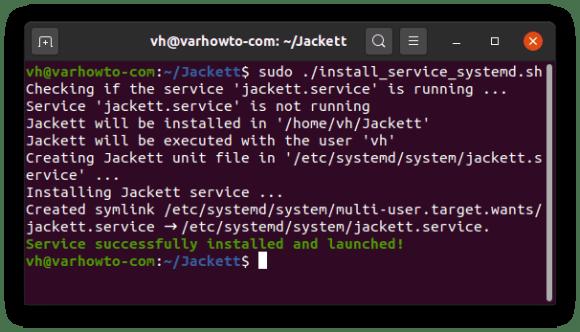 Installing Jackett systemd service