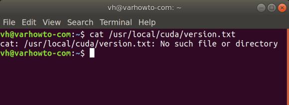 cat usr local cuda version.txt ubuntu 20 04