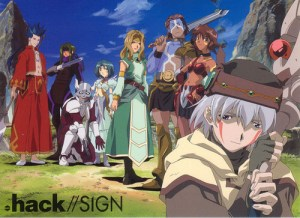 video games anime adaptation hack sign
