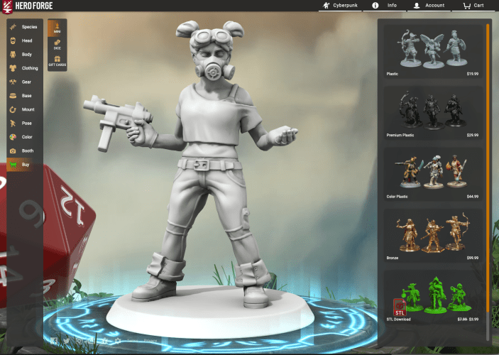 Review: Hero Forge Minis for 3D Printing