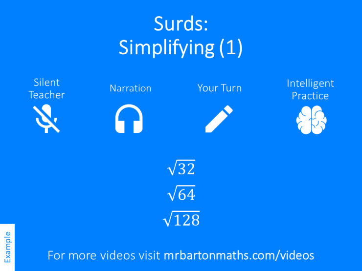 Simplifying Surds 1 Variation Theory