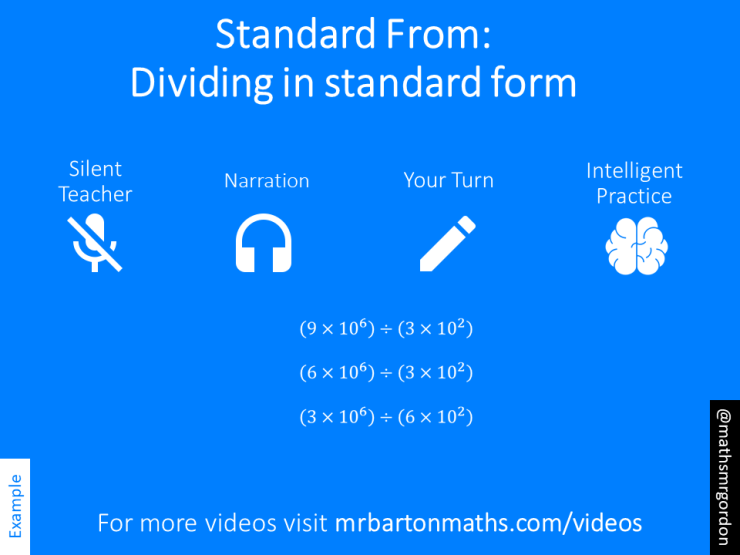 Dividing With Standard Form Variation Theory