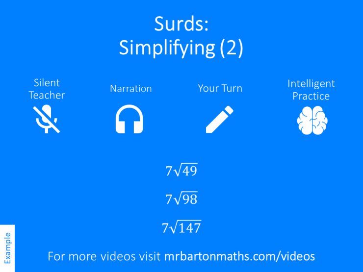 Simplifying Surds 2 Variation Theory