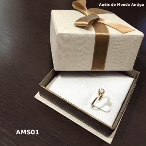 Anel Solitário de Moeda Antiga – AMS01