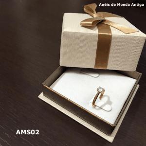 Anel Solitário de Moeda Antiga – AMS02