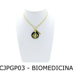 Conjunto Cordão e Pingente de Profissão Biomedicina com Resina - CJPGP03