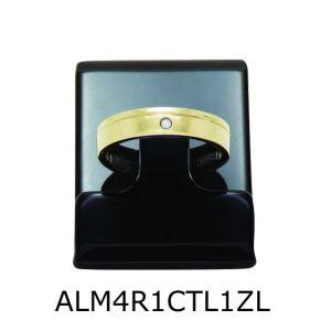Aliança de Moeda Antiga Reta 4MM com Revestimento em Prata e com 1 Risco em Curva e 1 Zircônia Lateral – ALM4R1RCTL1ZL