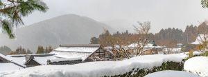 Winter scene of Ohara, Kyoto.