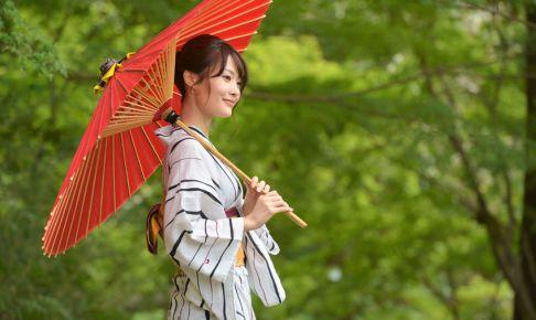 Summer and Yukata Women in Japan.
