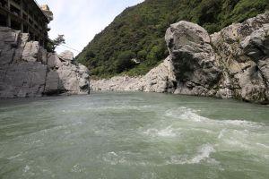 Oboke gorge at Yoshino river, Tokushima.
