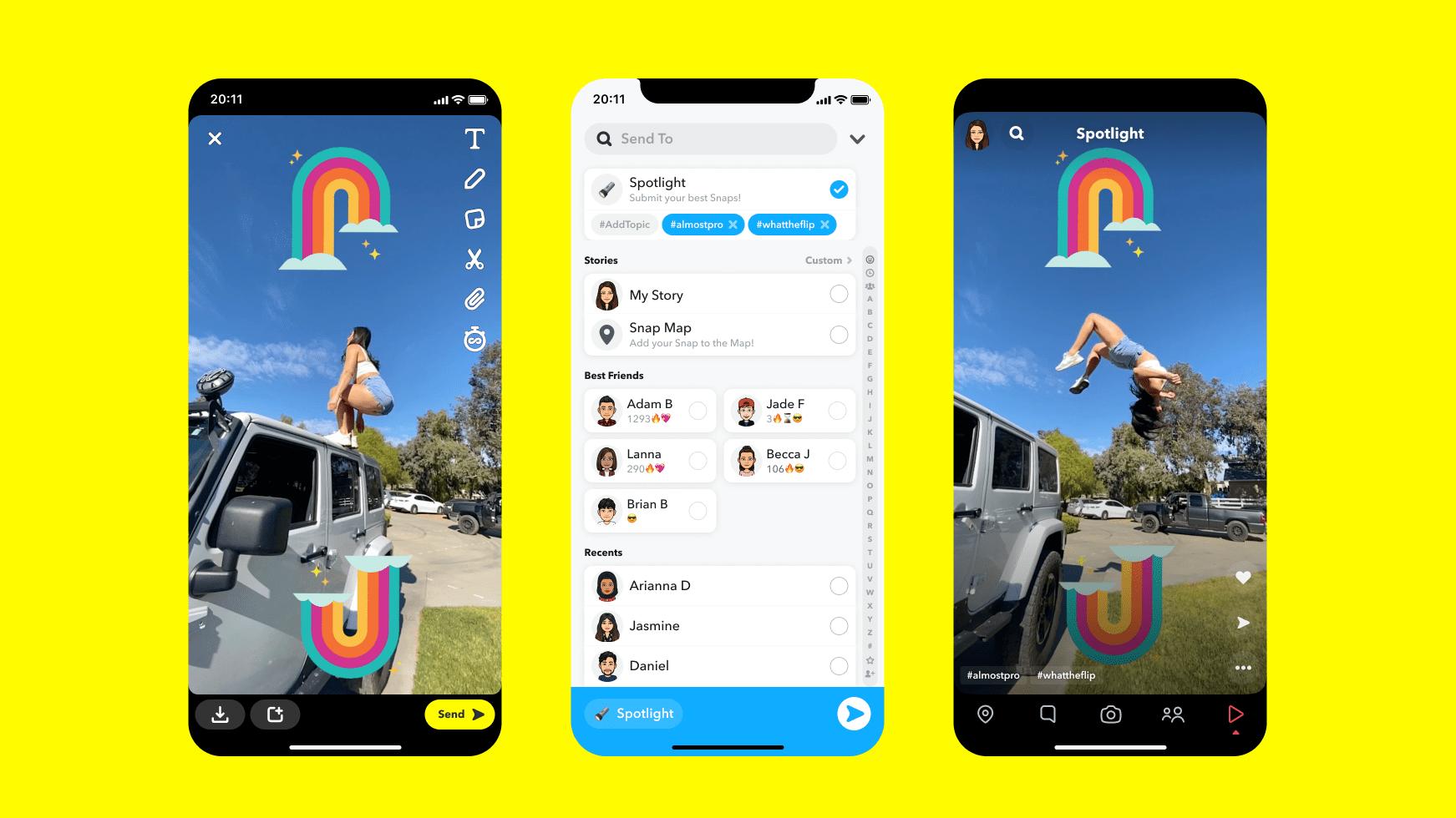 Insta :  Pleins feux sur Snapchat: les créateurs de contenu peuvent obtenir une part de 1 million de dollars par jour