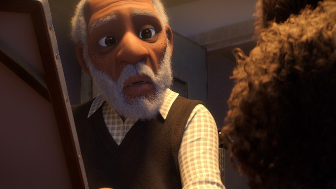 Scene from the Netflix Animated Short 'Canvas'