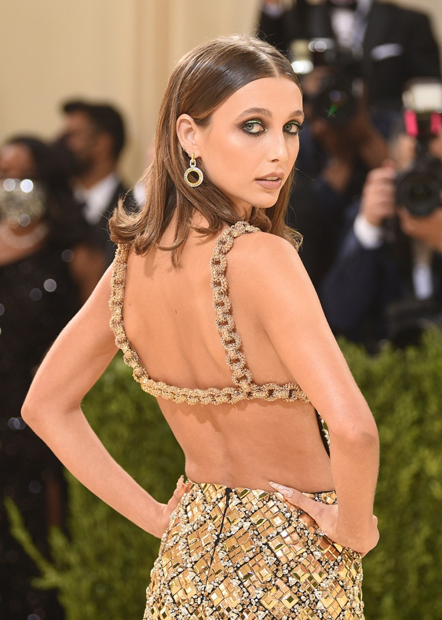 """Emma Chamberlain attends The Metropolitan Museum of Art's Costume Institute benefit gala celebrating the opening of the """"In America: A Lexicon of Fashion"""" exhibition on Monday, Sept. 13, 2021, in New York. (Photo by Evan Agostini/Invision/AP)"""