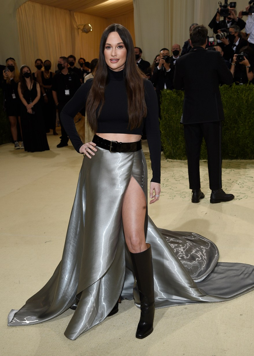 """Kacey Musgraves attends The Metropolitan Museum of Art's Costume Institute benefit gala celebrating the opening of the """"In America: A Lexicon of Fashion"""" exhibition on Monday, Sept. 13, 2021, in New York. (Photo by Evan Agostini/Invision/AP)"""