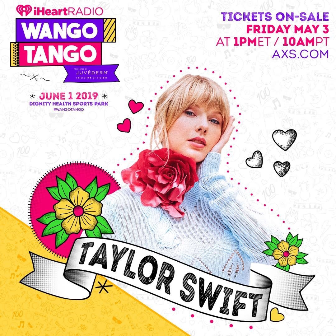 Taylor Swift Joins June 1st Wango Tango Lineup!