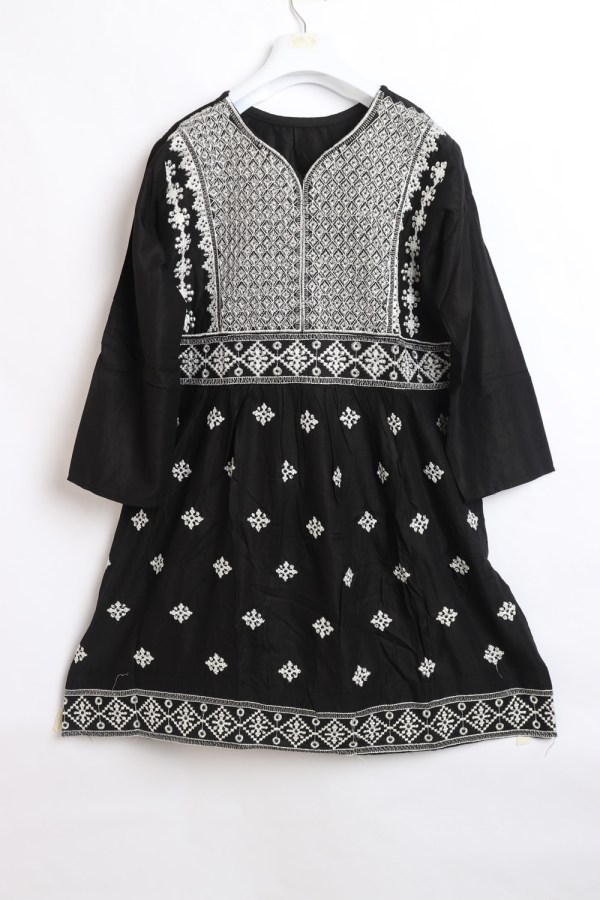 Sindhi Embroidery Linen stitched frock shirt for women 1010