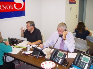 John Cox at Virginia Victory making calls to the 55th District