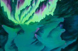 moon gravity antarctica cover art northern lights