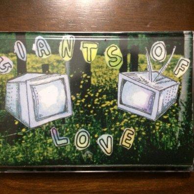 photo of trust fall giants of love cassette tape