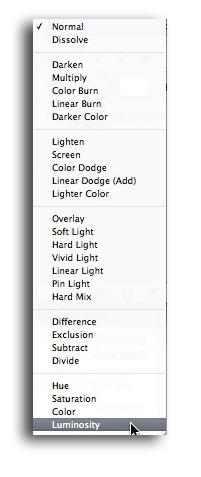 Luminosity Blend Mode