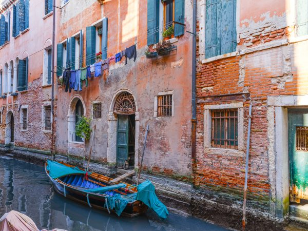 Venice Canal Blue & Brown
