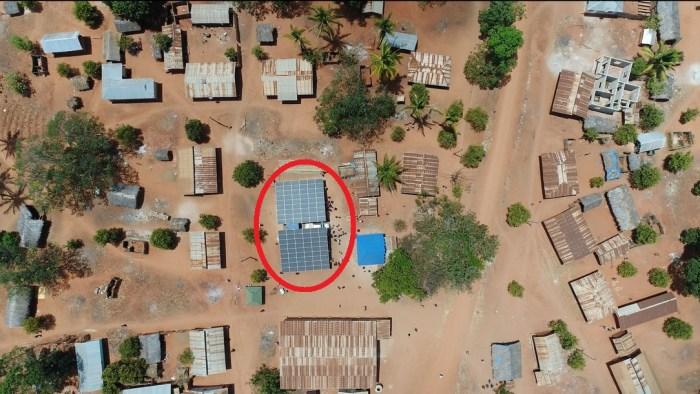 exemple de mini-réseau dans un village en Tanzanie.