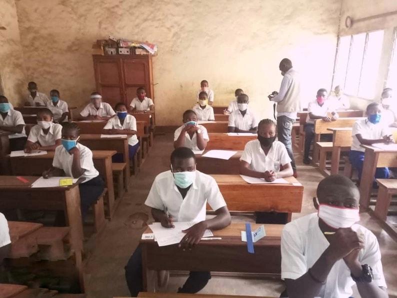 Élèves de l'école Sainte Agnès, août 2020, RDC