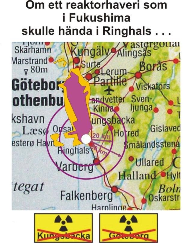 Om Fukushima inträffat i Sverige