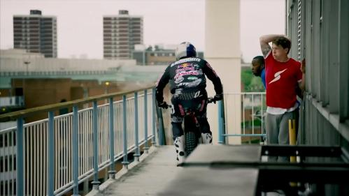 Free Runner Vs. Trial Bike. Thanks Top Gear